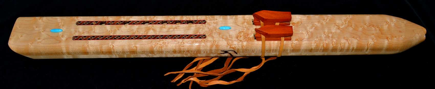Birds Eye Maple Native American Style Double Inlaid Drone in G-minor