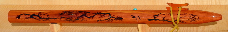 E-minor Eastern Cedar Fractal Flute by Laughing Crow