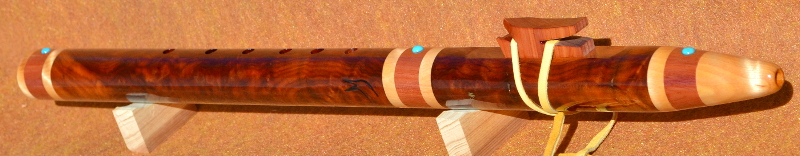Buckeye Burl F-sharp minor Native American Style Flute by Laughing Crow