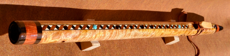 CurlyMango Em W/Mun Ebony, Brazilian Tulipwoodl Accents and Inlays