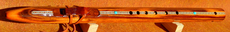 Tigerwood F#m Flute With Inlay