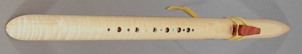 Native American Tiger Maple Rainbow Flute