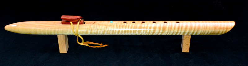 Native American Tiger Maple Flute by Laughing Crow